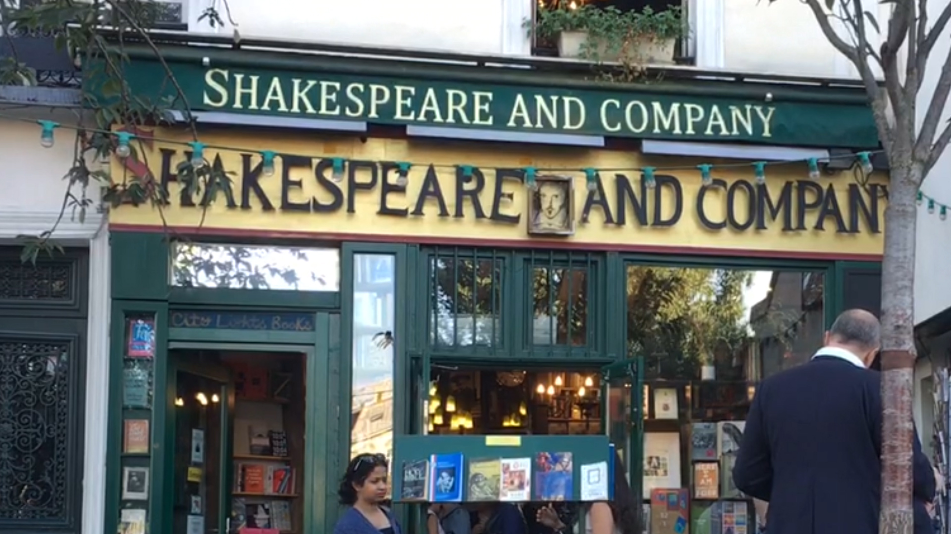 Shakespeare and Company, Paris's famous bookstore where wandering writers are welcome