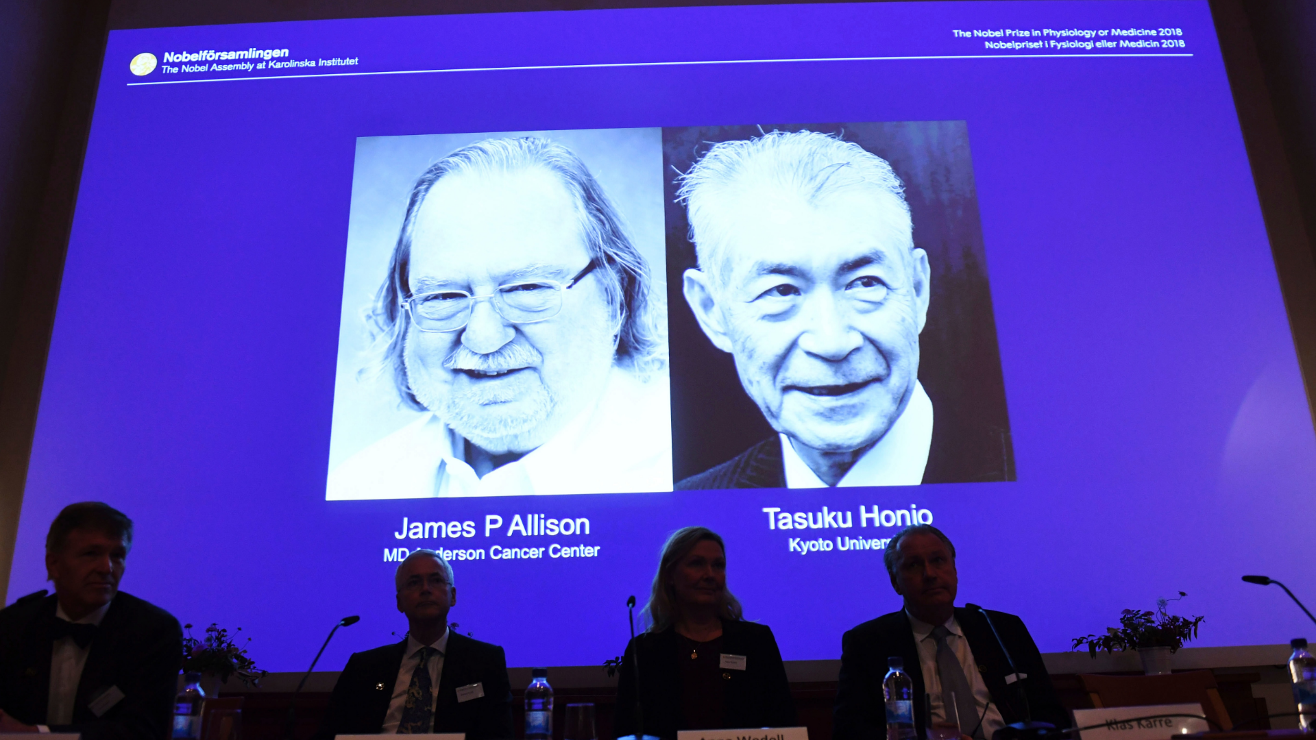 Nobel Prize in medicine goes to cancer immunotherapy researchers