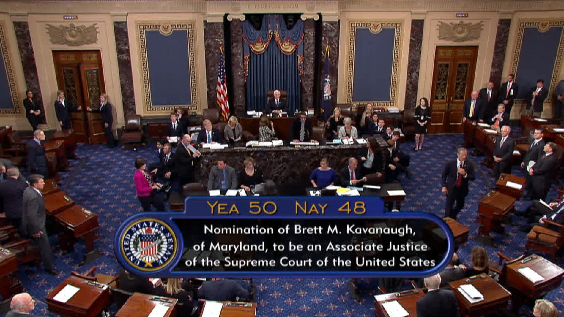 Kavanaugh sworn in as Supreme Court justice after divided Senate votes for confirmation