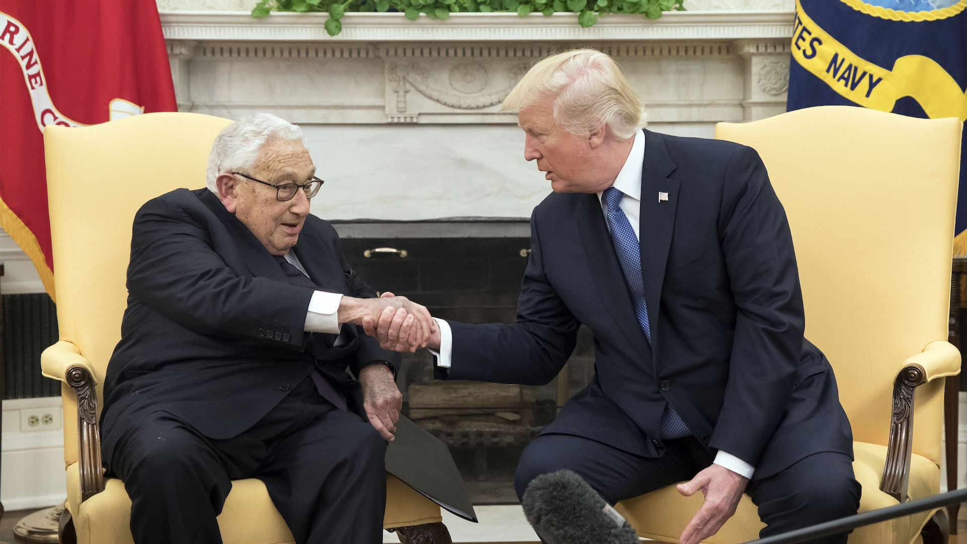 Image result for photos of kissinger trump