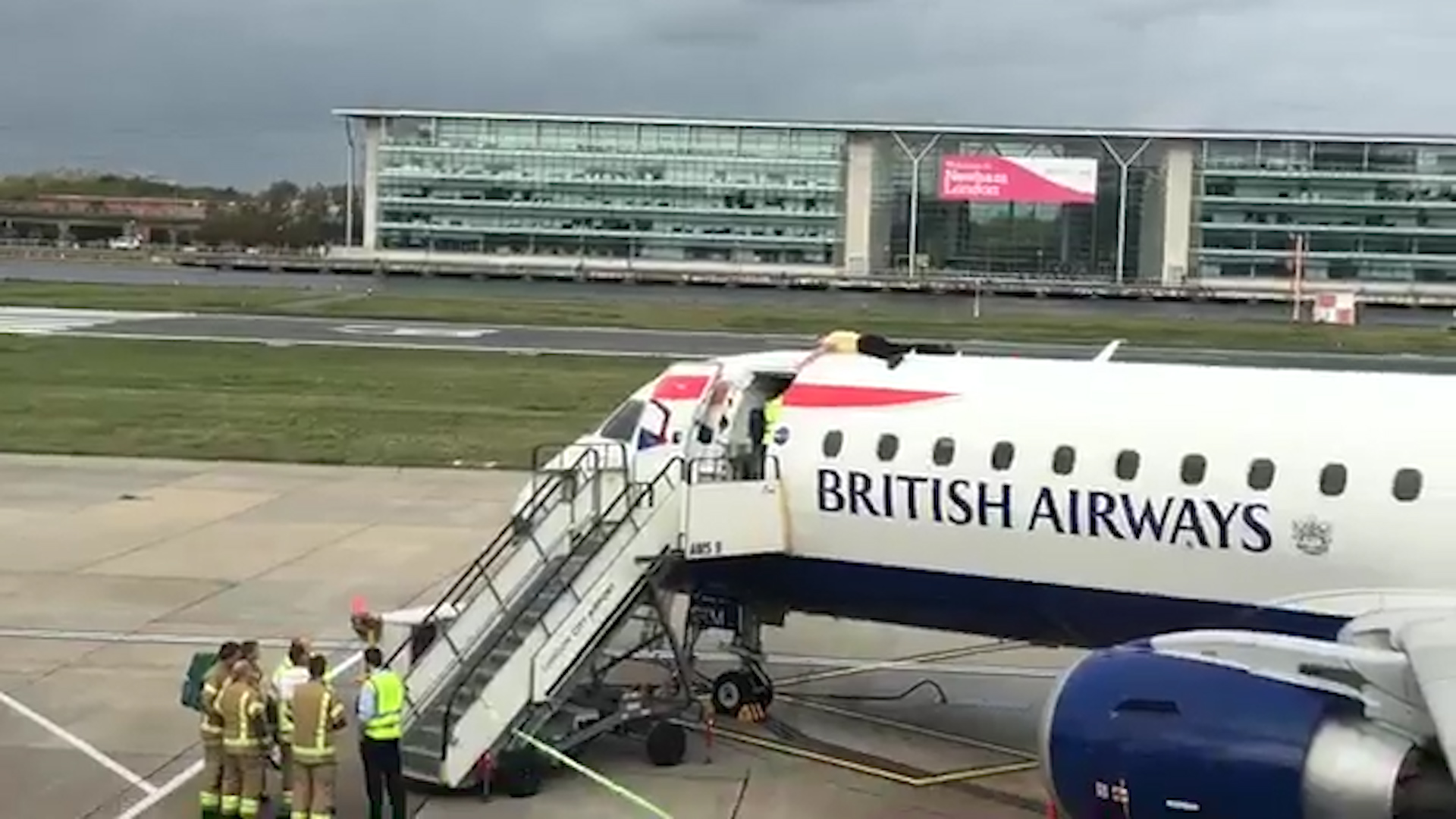 Climate-change activist arrested on flight as protests sweep London City Airport