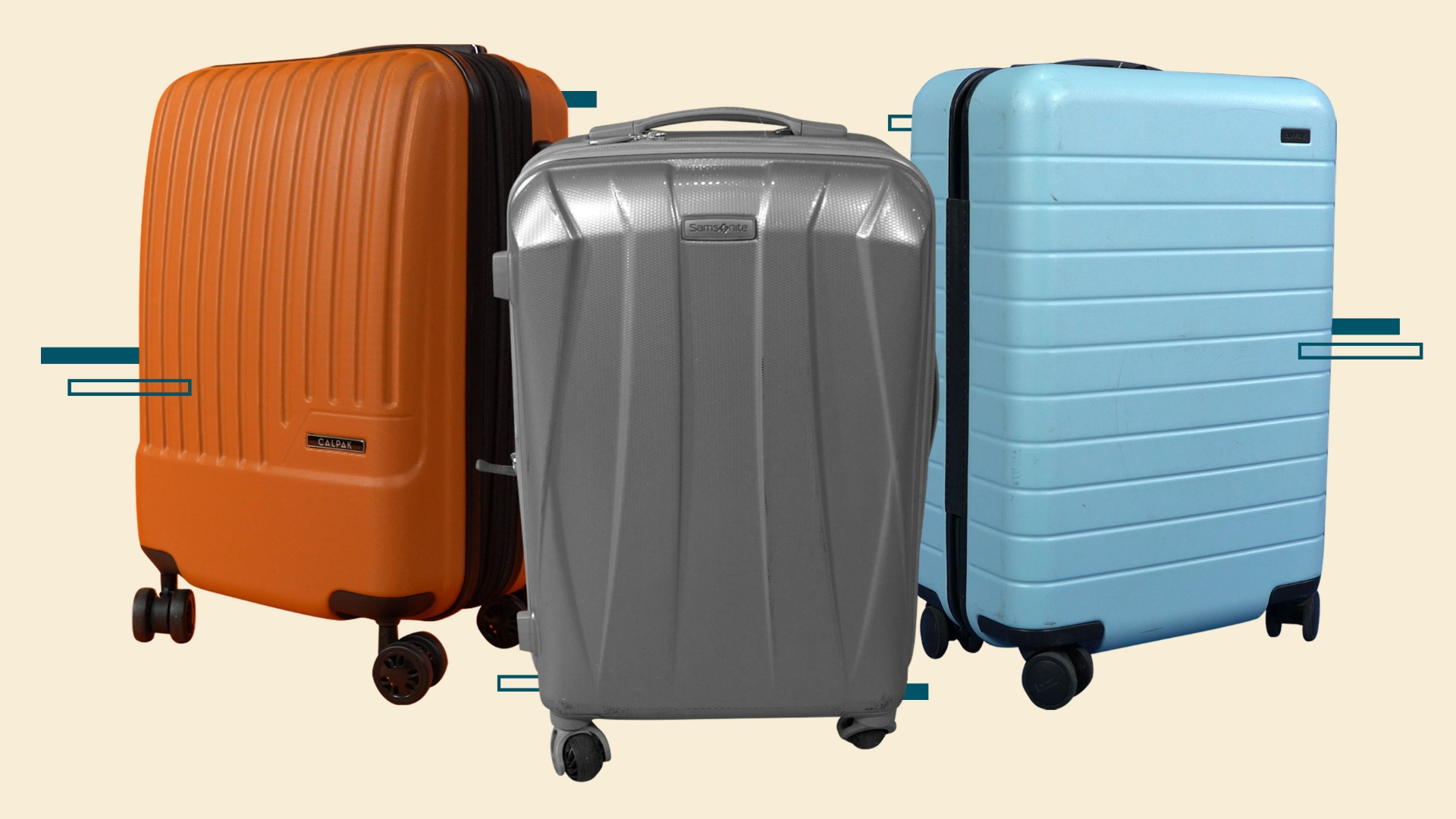 We compared Away, Samsonite and Calpak carry-ons in a suitcase smackdown