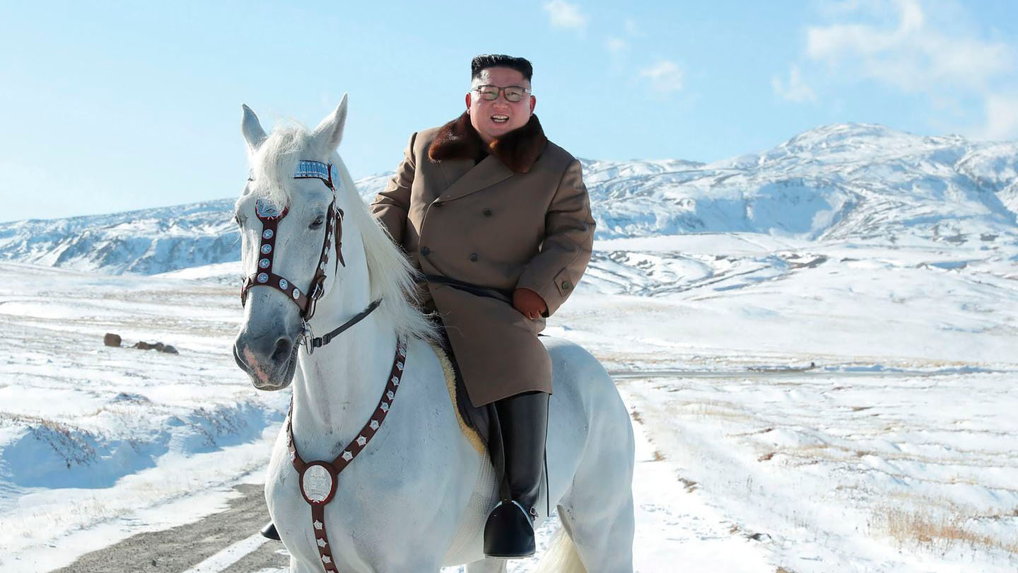 Kim Jong Un rides white horse on sacred mountain – and plans 'great operation'