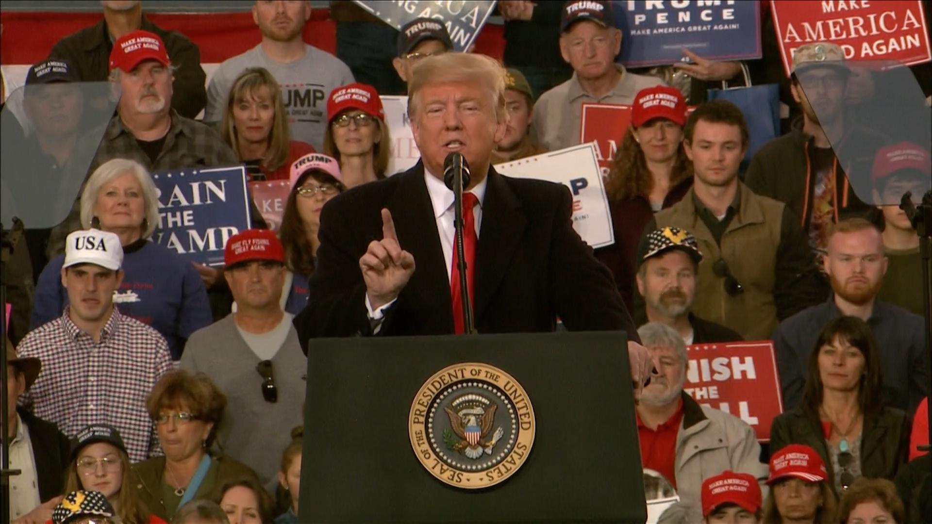 At Montana rally, Trump praises congressman for assaulting reporter