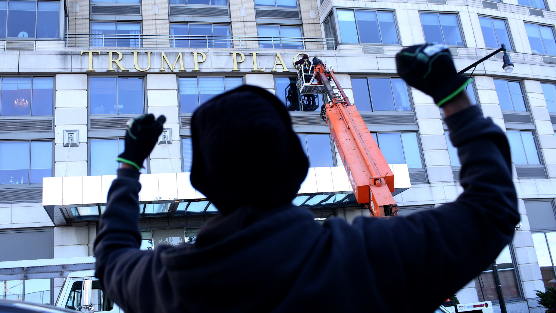 Another Trump-branded building has decided to take down the president's name