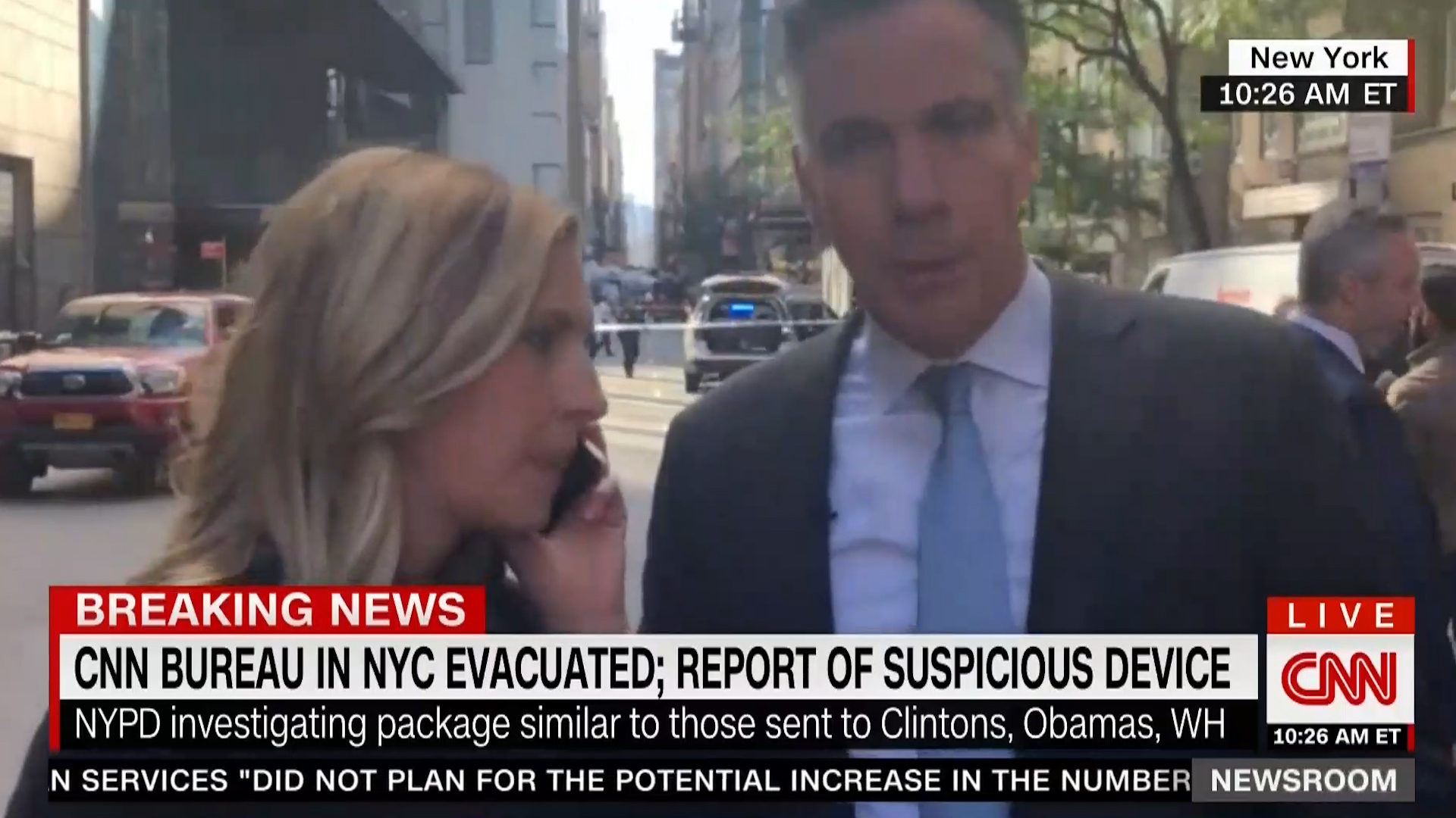 CNN's New York offices evacuated after reports of a suspicious device