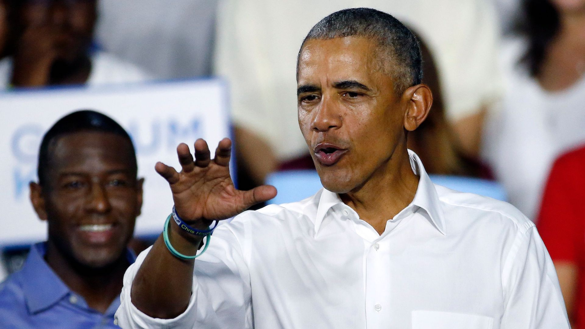 Obama rips hecklers: Why are the people who won the last election 'so mad all the time?'