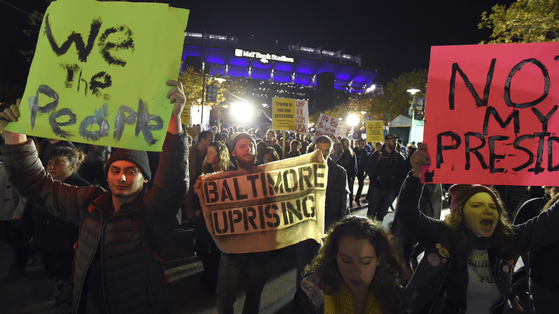 Vigils and protests swell across U.S. in wake of Trump victory