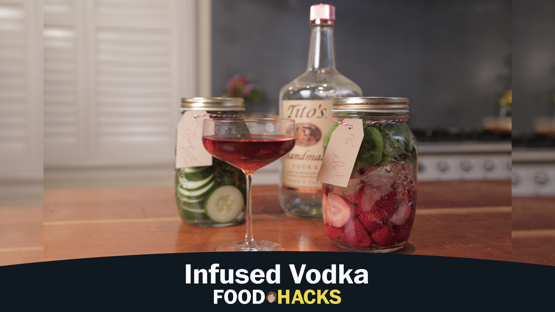 Homemade flavored vodka is a festive, easy and inexpensive holiday gift