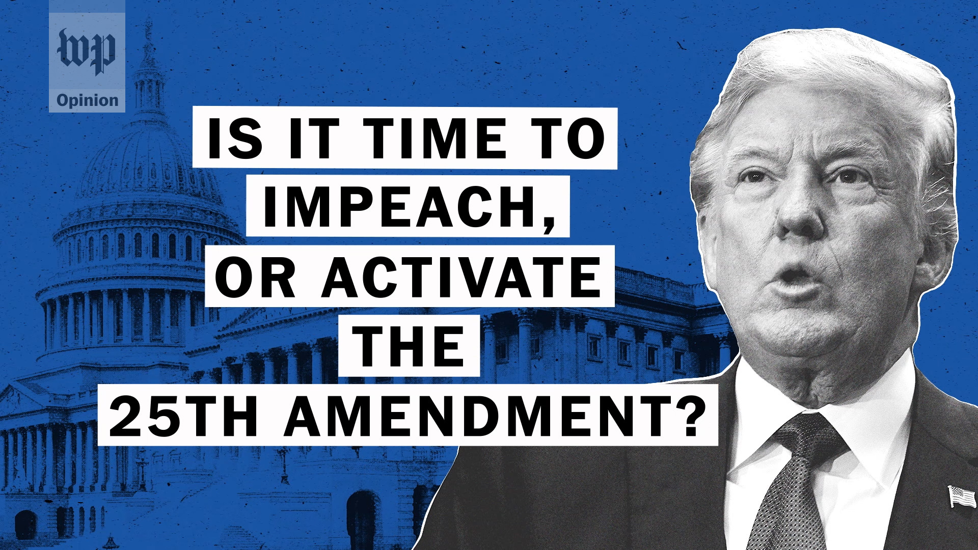 If Trump believes what he's saying, we really do need to deploy the 25th Amendment