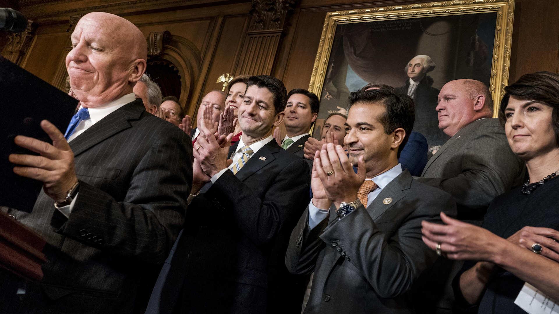 House passes GOP tax bill, upping pressure on struggling Senate effort