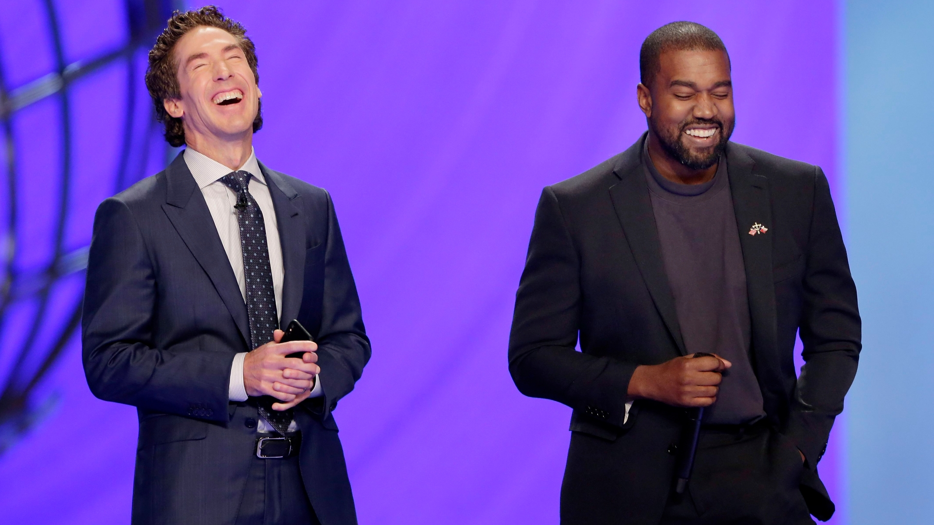 Kanye West speaks out about his faith at Joel Osteen's Sunday service