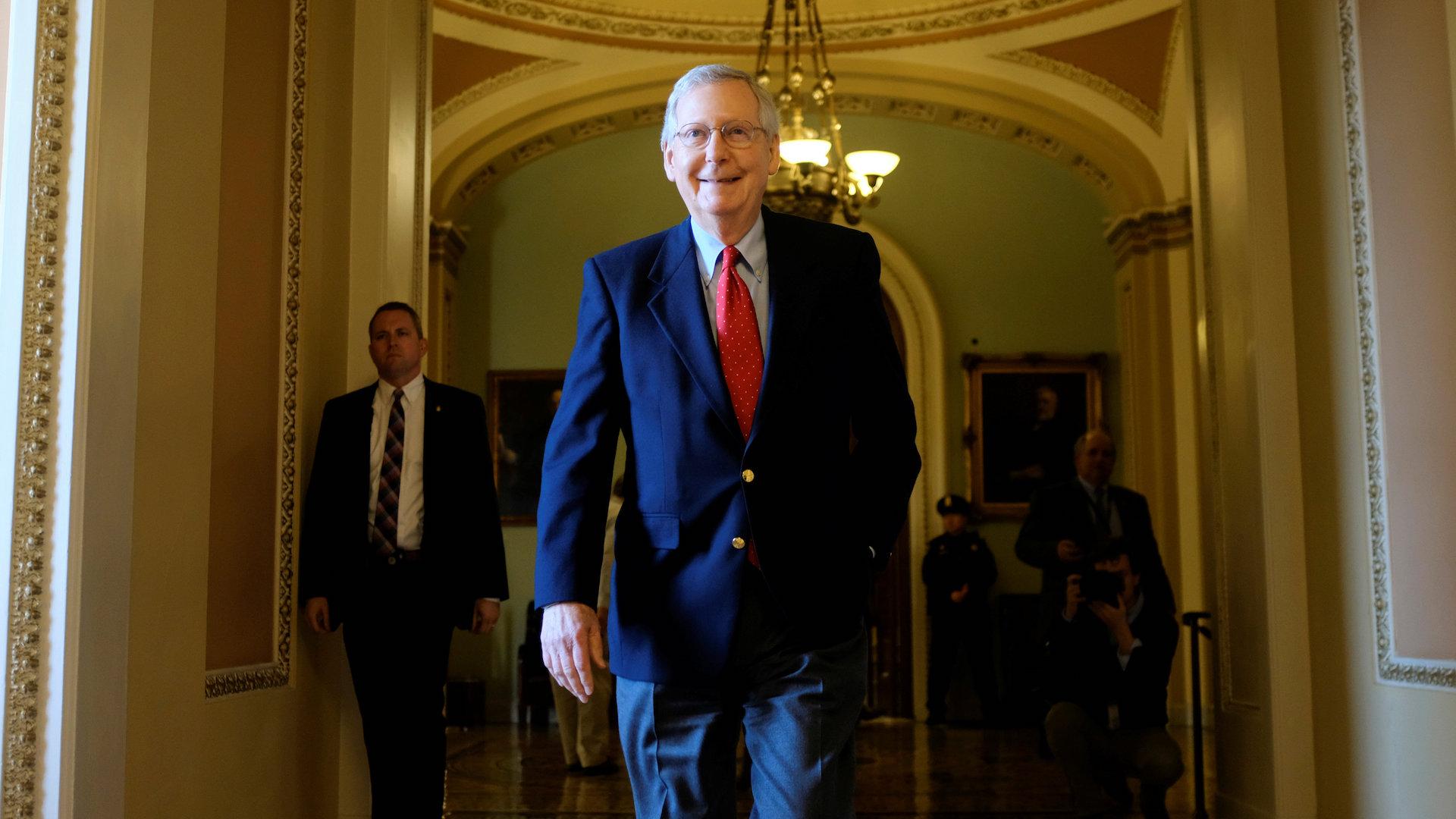 Hours after Senate GOP passes tax bill, Trump says he'll consider raising corporate rate