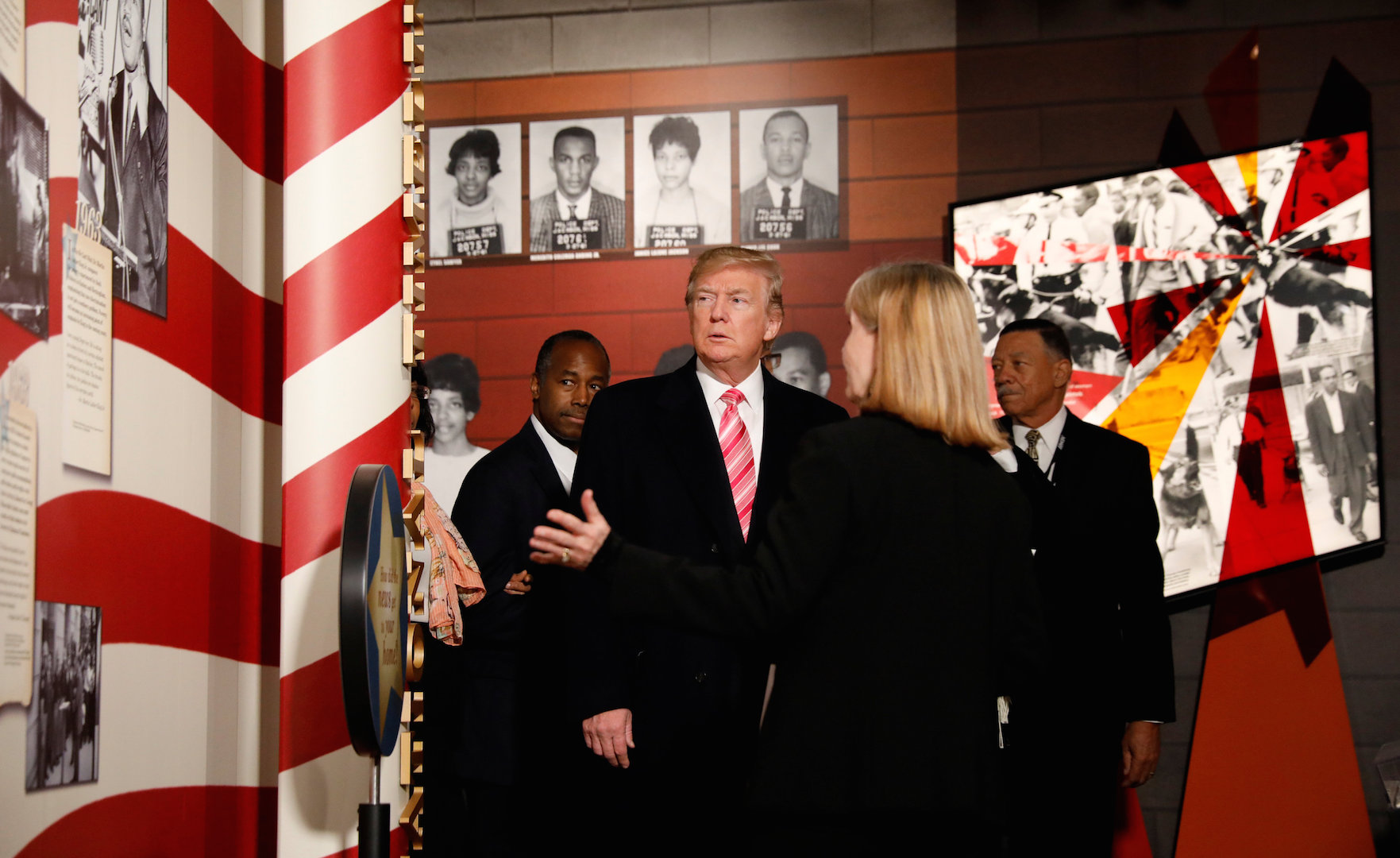 Trump ignores backlash, visits Mississippi Civil Rights Museum and praises civil rights leaders
