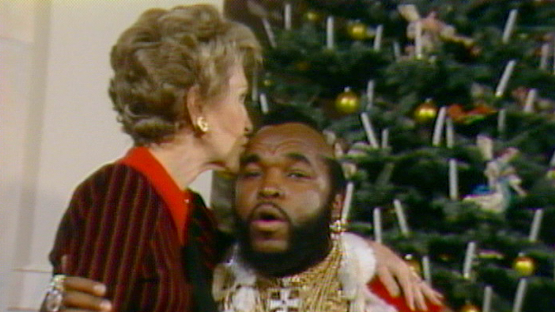 Flipboard Mr T Dressed As Santa Nancy Reagan Sat On His Lap It