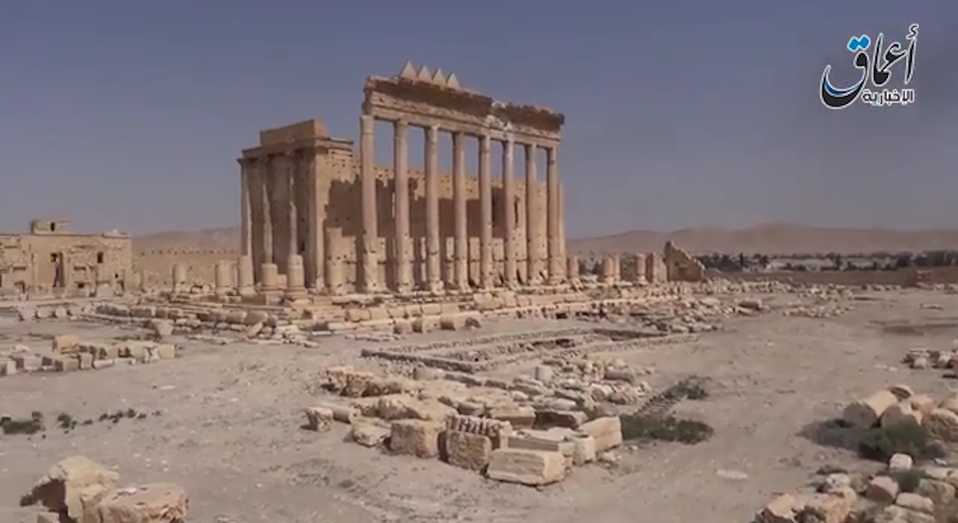 Islamic State video purports to show Palmyra ruins untouched