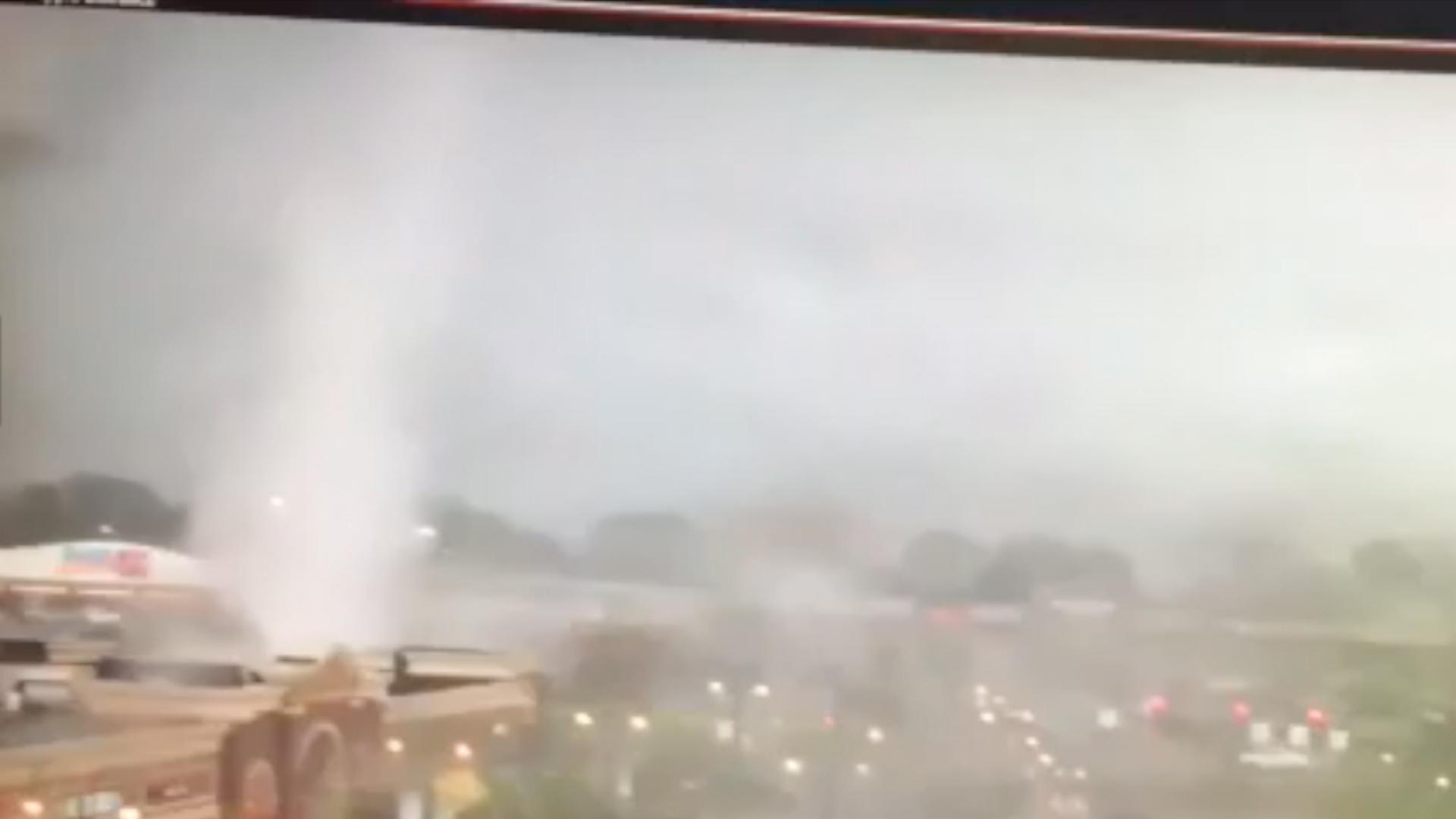 Surveillance video captures tornado in Ohio