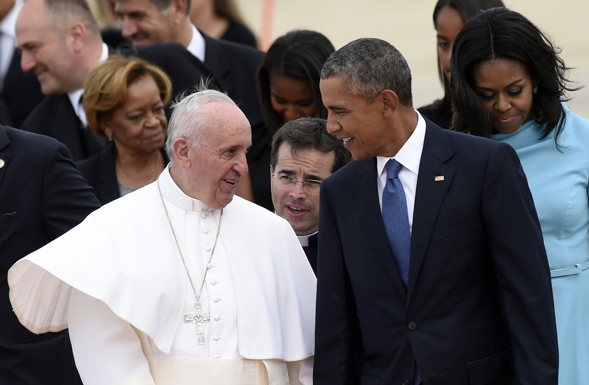 Who's that with Pope Francis? The seven kinds of people you meet in a papal entourage.