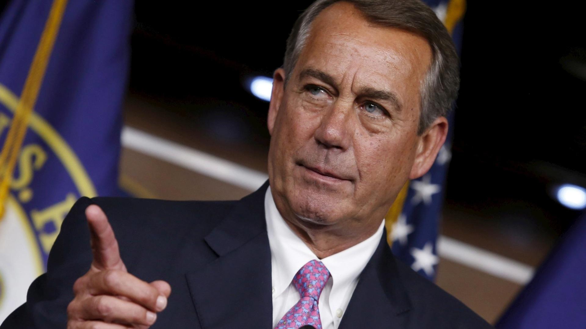 House Speaker John Boehner to resign at end of October