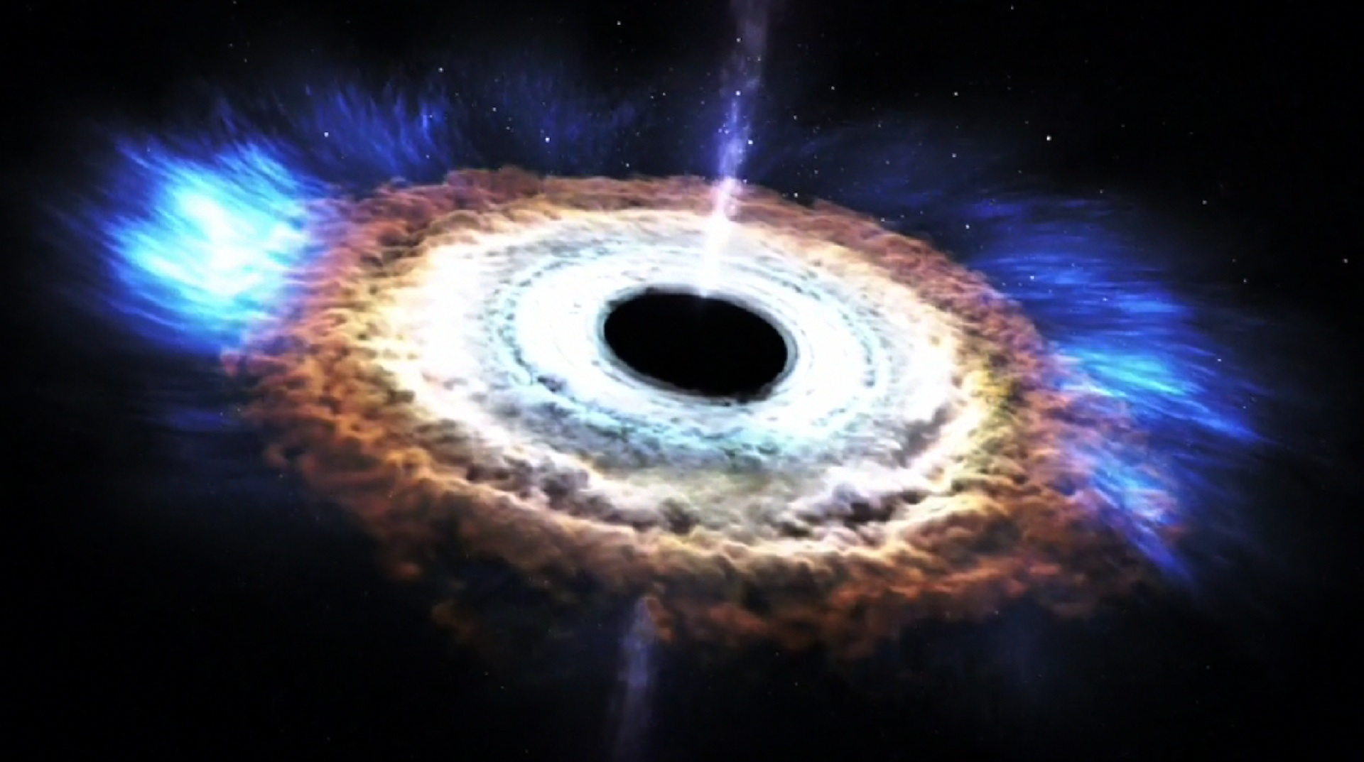 Scientists just caught a black hole swallowing a star — and burping a bit back out