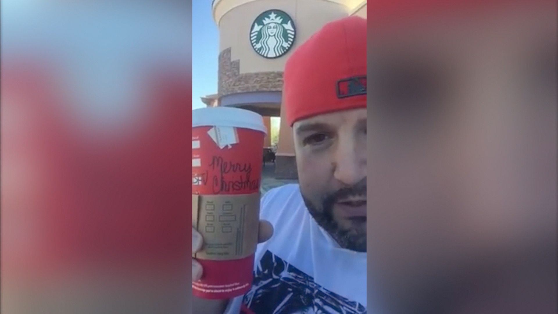 Starbucks 'removed Christmas from their cups because they hate Jesus,' Christian says in viral Facebook video