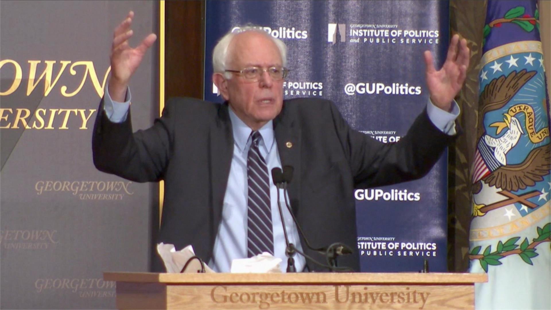 Sanders: Unlike Clinton, I won't seek 'reckless adventures abroad'