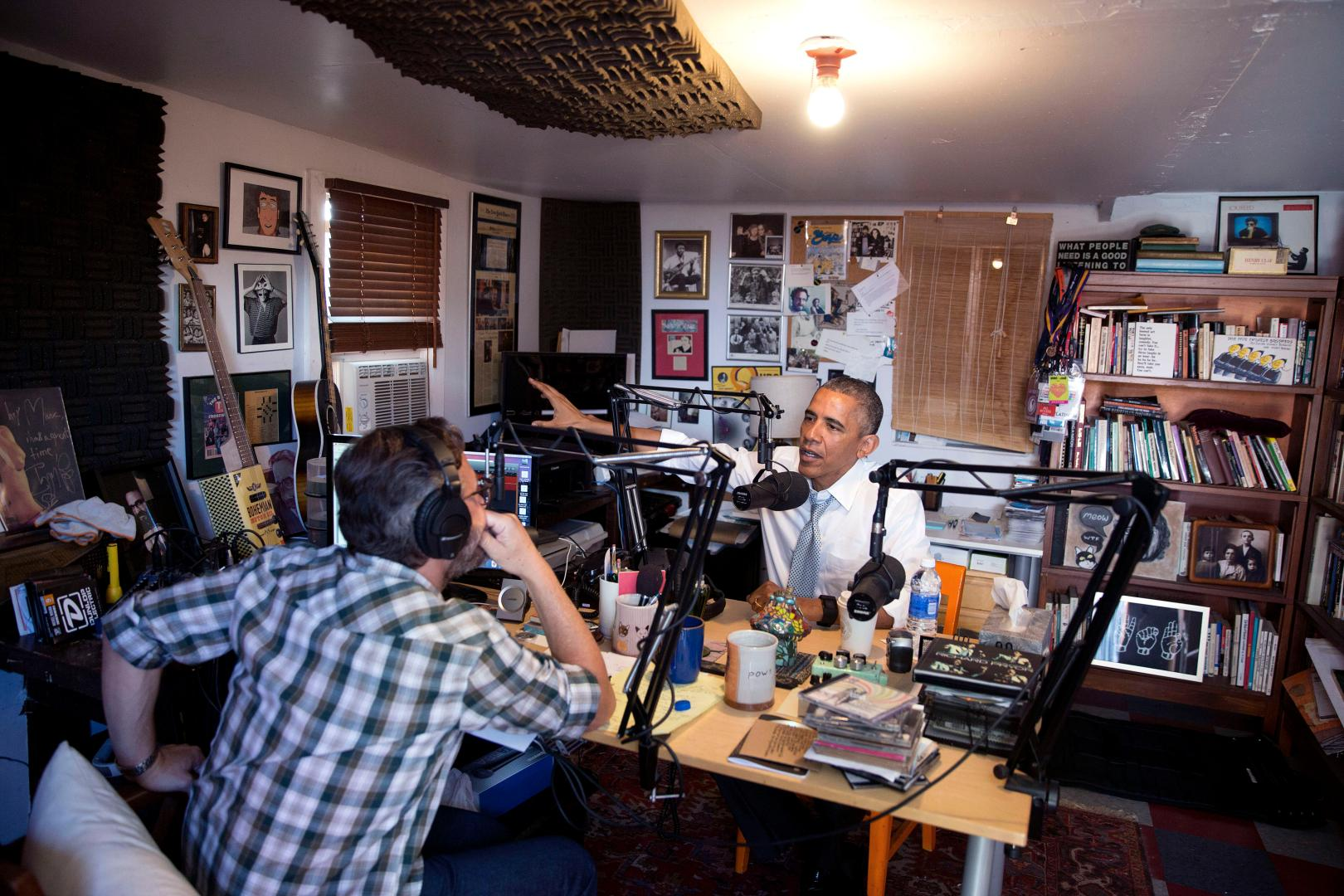 How an angry comic who had a coke habit became the Barbara Walters of podcasts