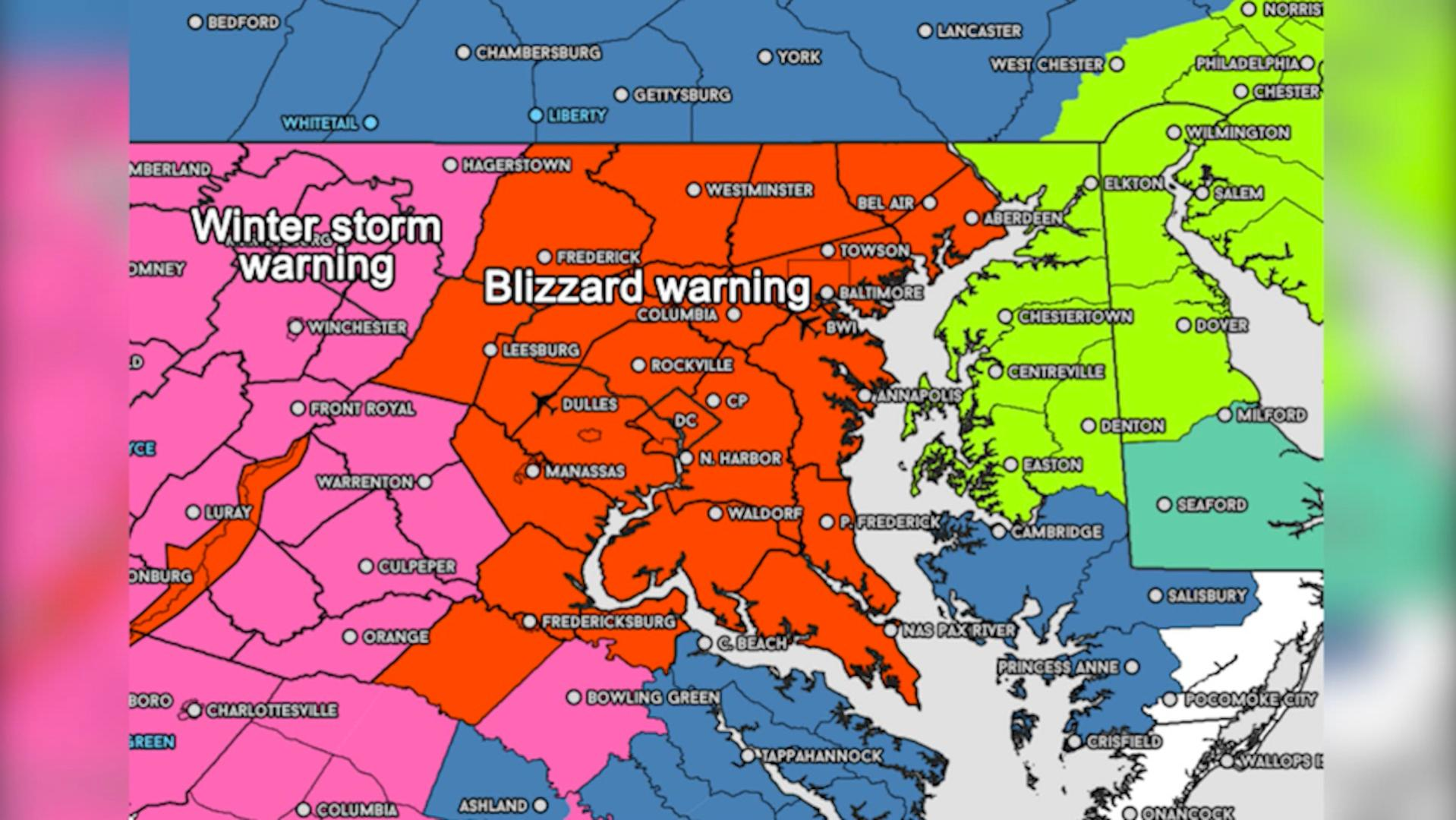 Severe, long-duration snowstorm begins Friday, blizzard watch in effect