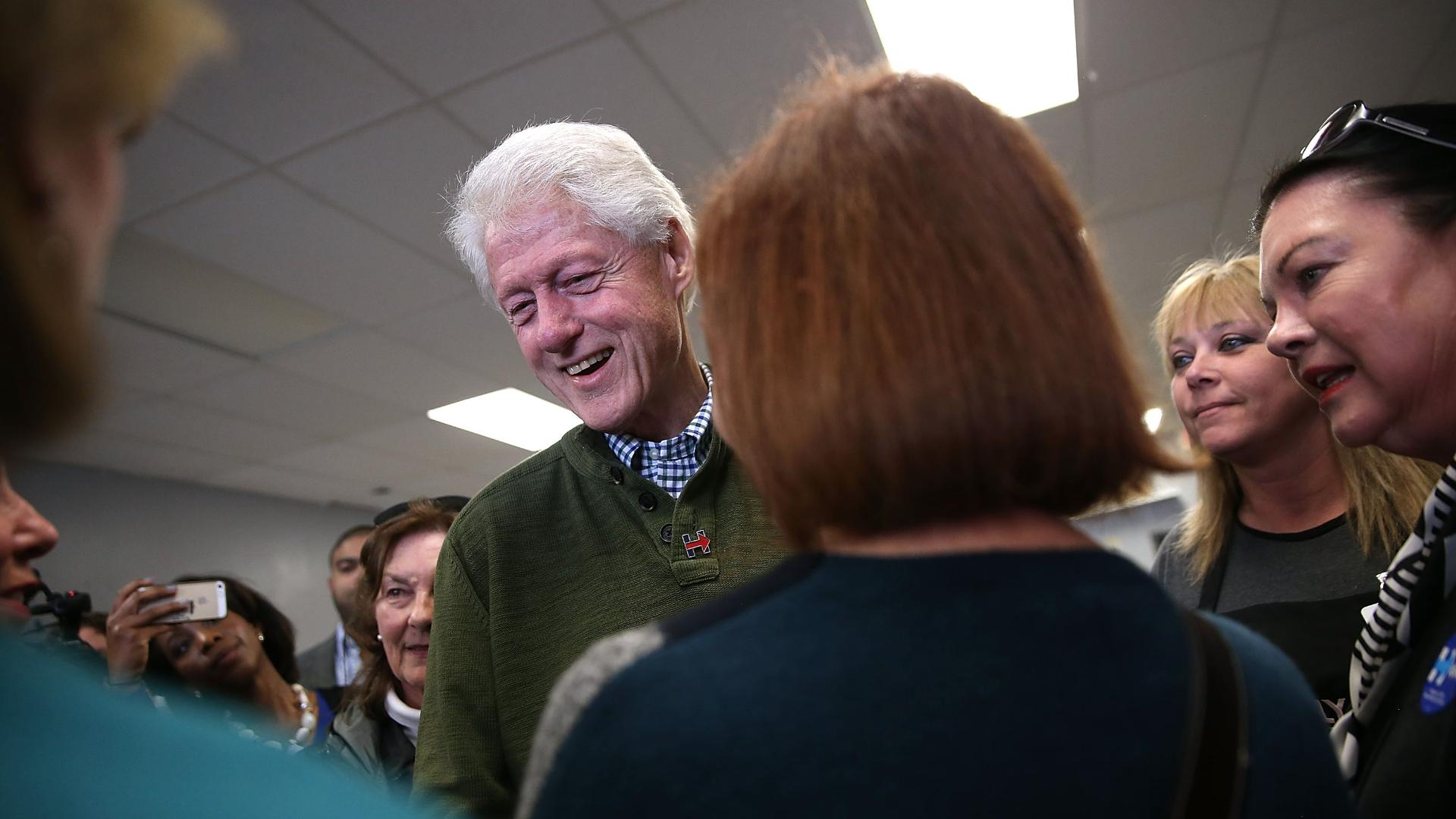 Eight years later, Bill Clinton is causing headaches for his wife again