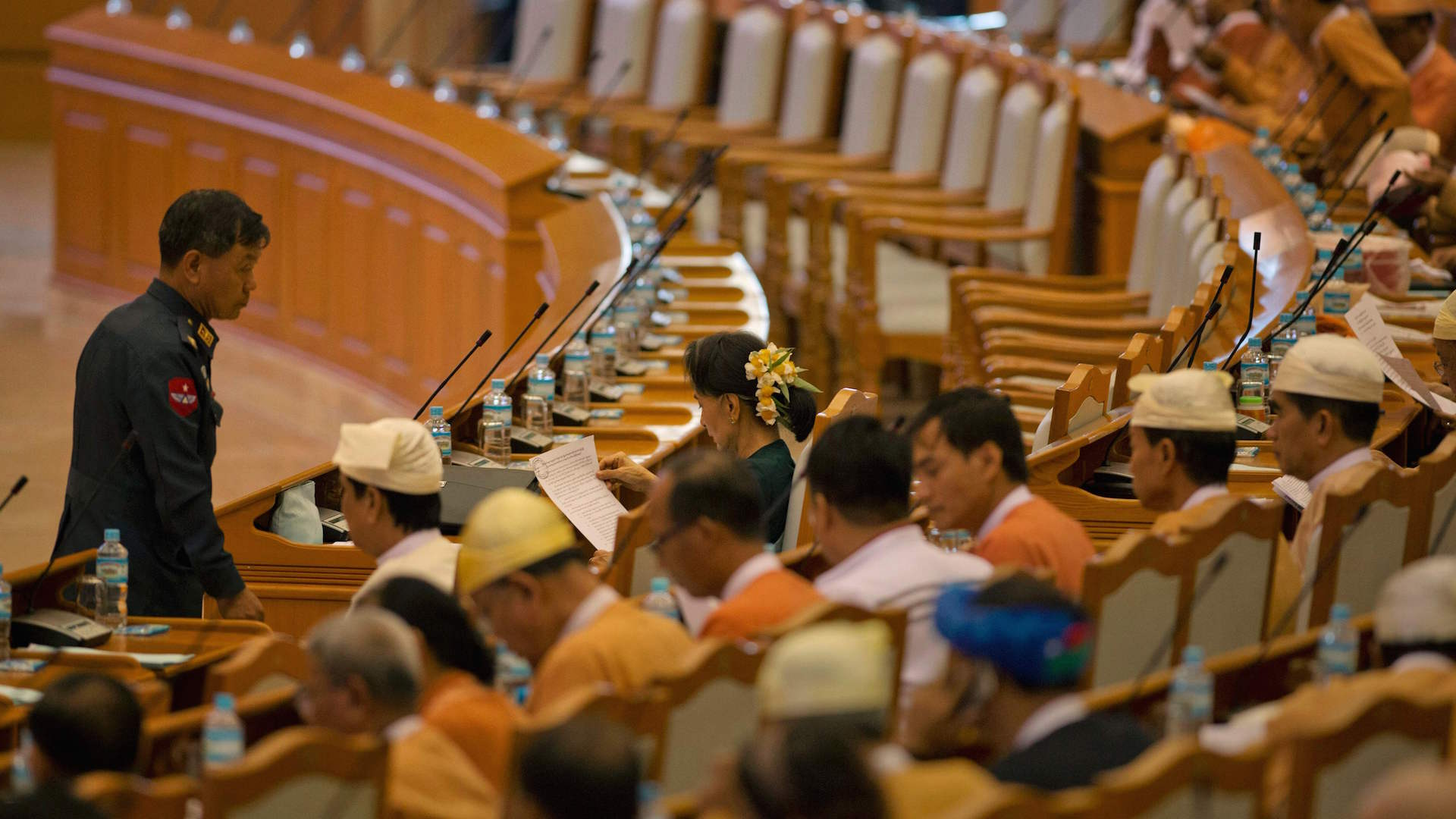 Burma, after decades of military rule, gets an unassuming democrat as president