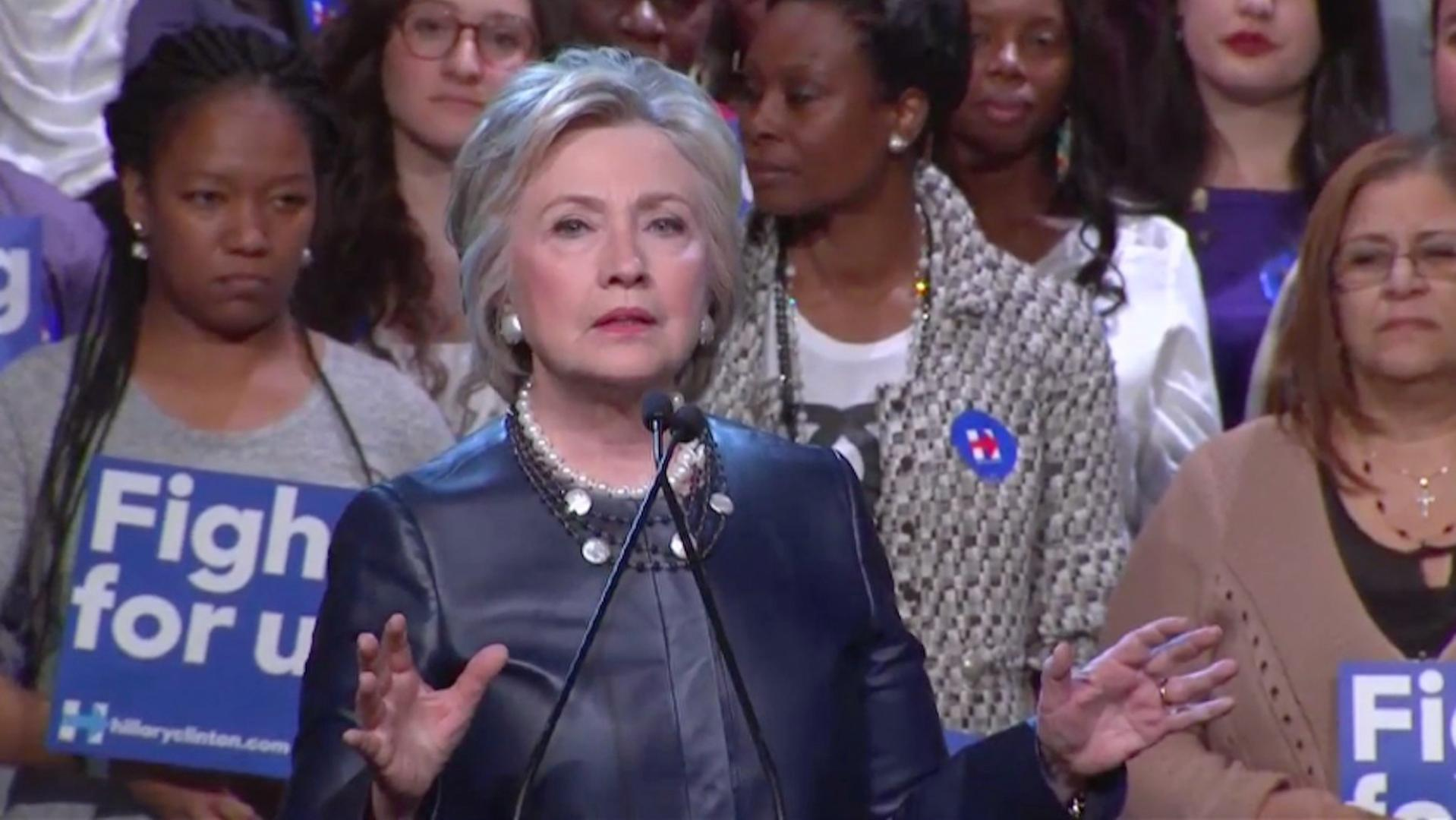New campaign ad by Hillary Clinton targets Donald Trump in New York