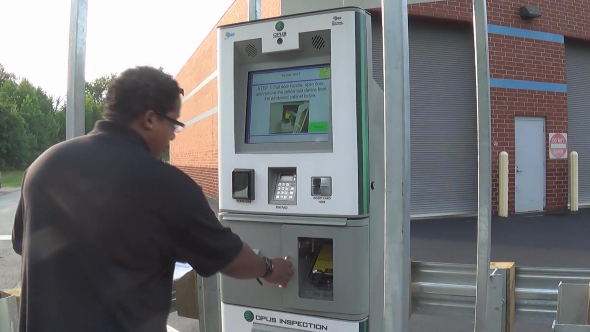 Maryland's vehicle emissions tests kiosk tutorial