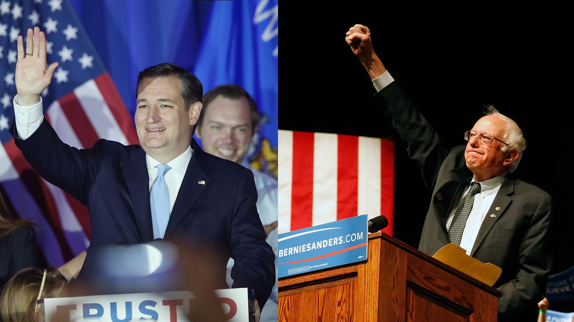 Wisconsin primary: Cruz, Sanders win in upset for front-runners