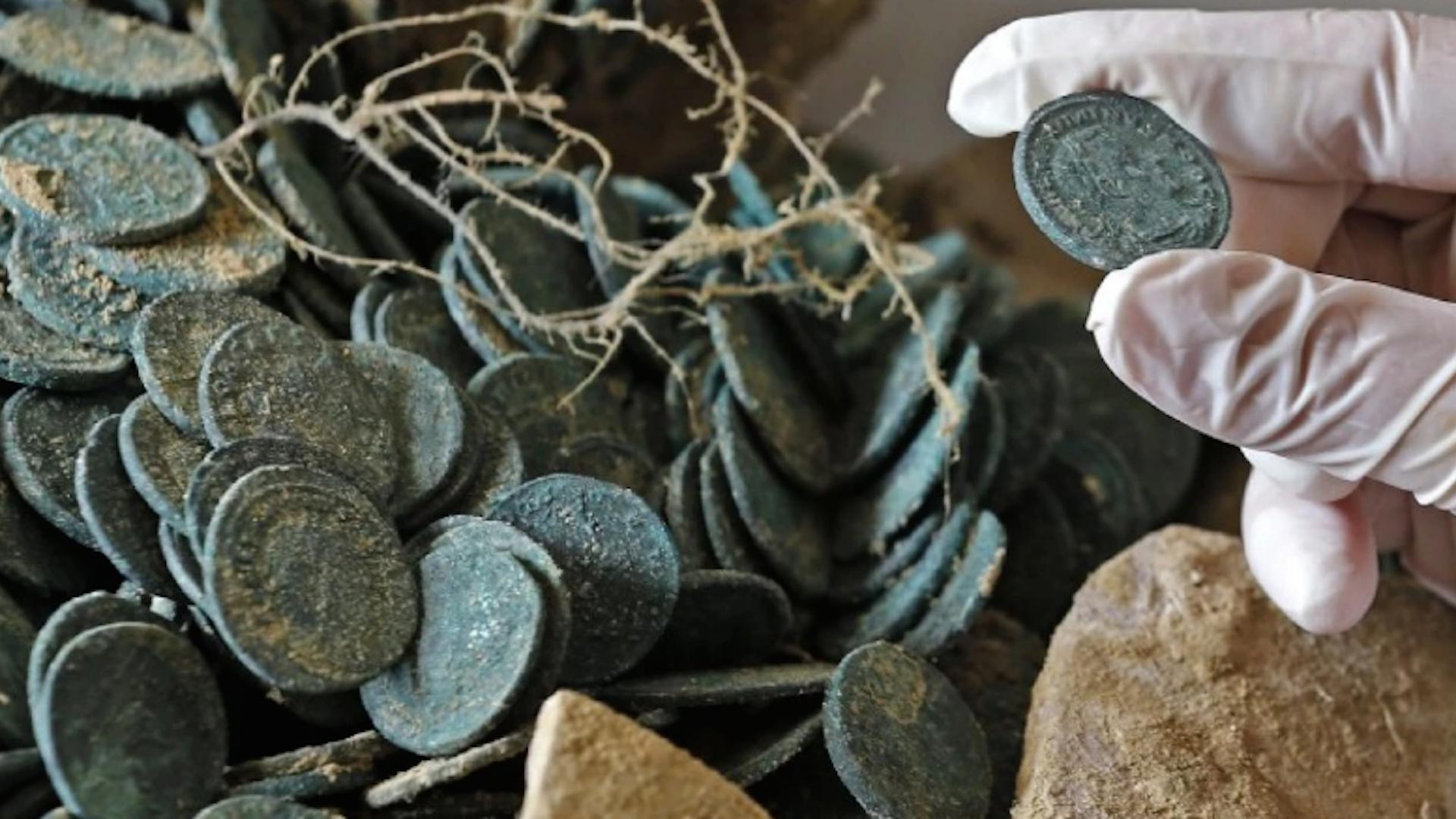 Construction workers in Spain unearth 1,300 pound trove of ancient Roman coins