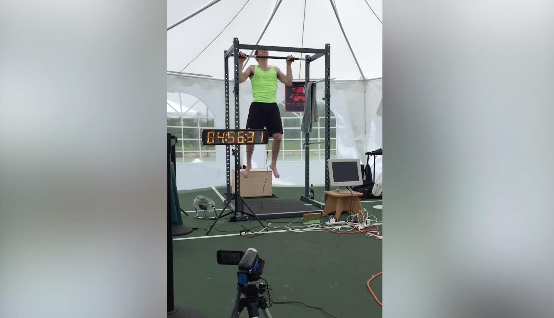 Watch a Va. teenager break three world records for pull-ups