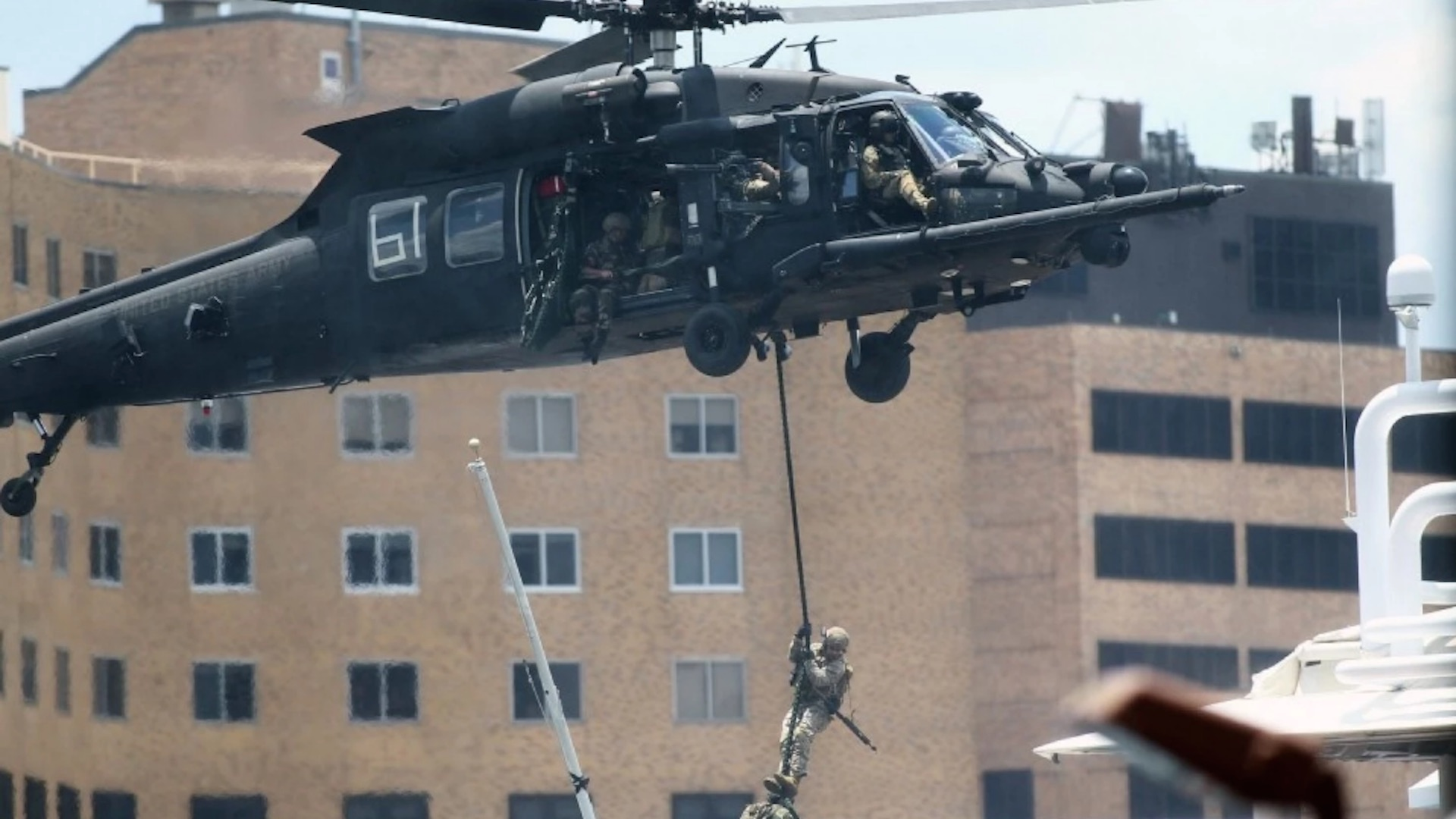 Special Operations troops assaulted downtown Tampa … all to thunderous applause