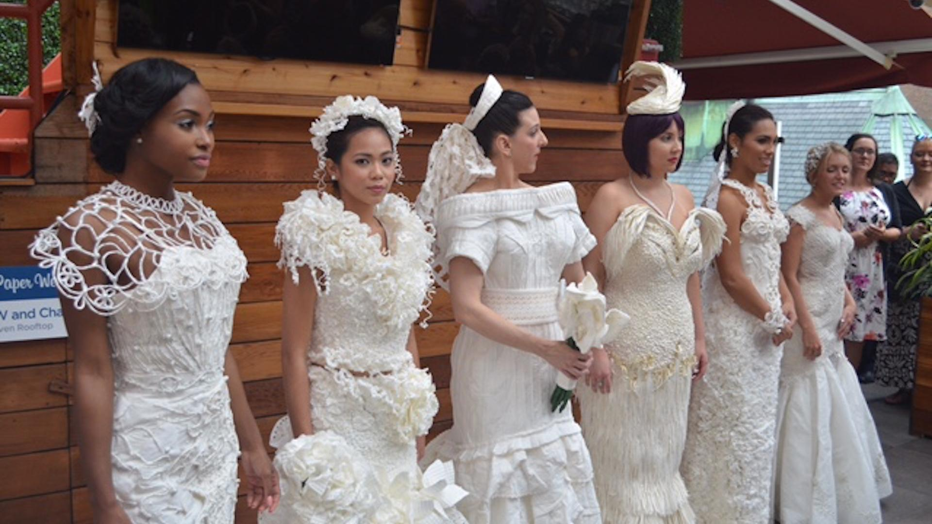 Toilet paper transforms into bridal attire for annual contest