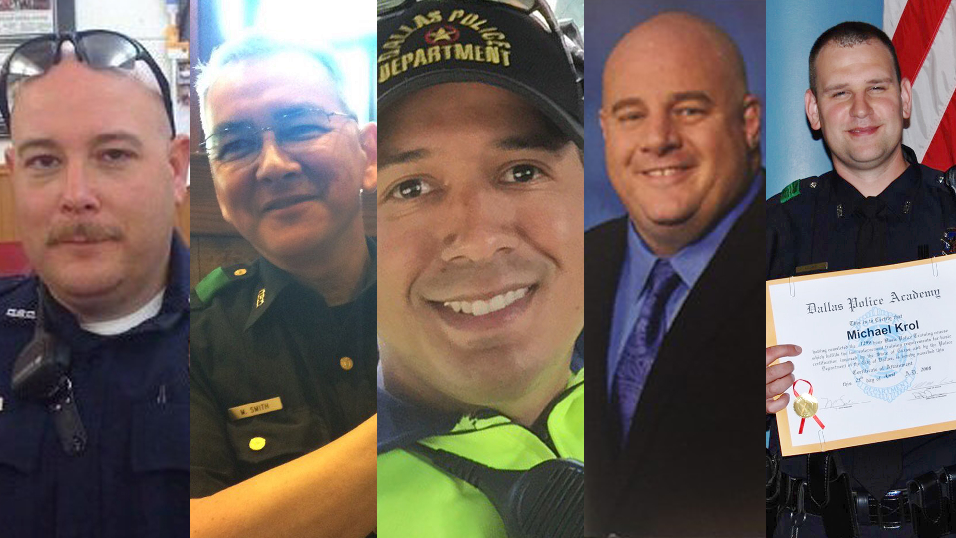 Remembering the slain police officers in Dallas