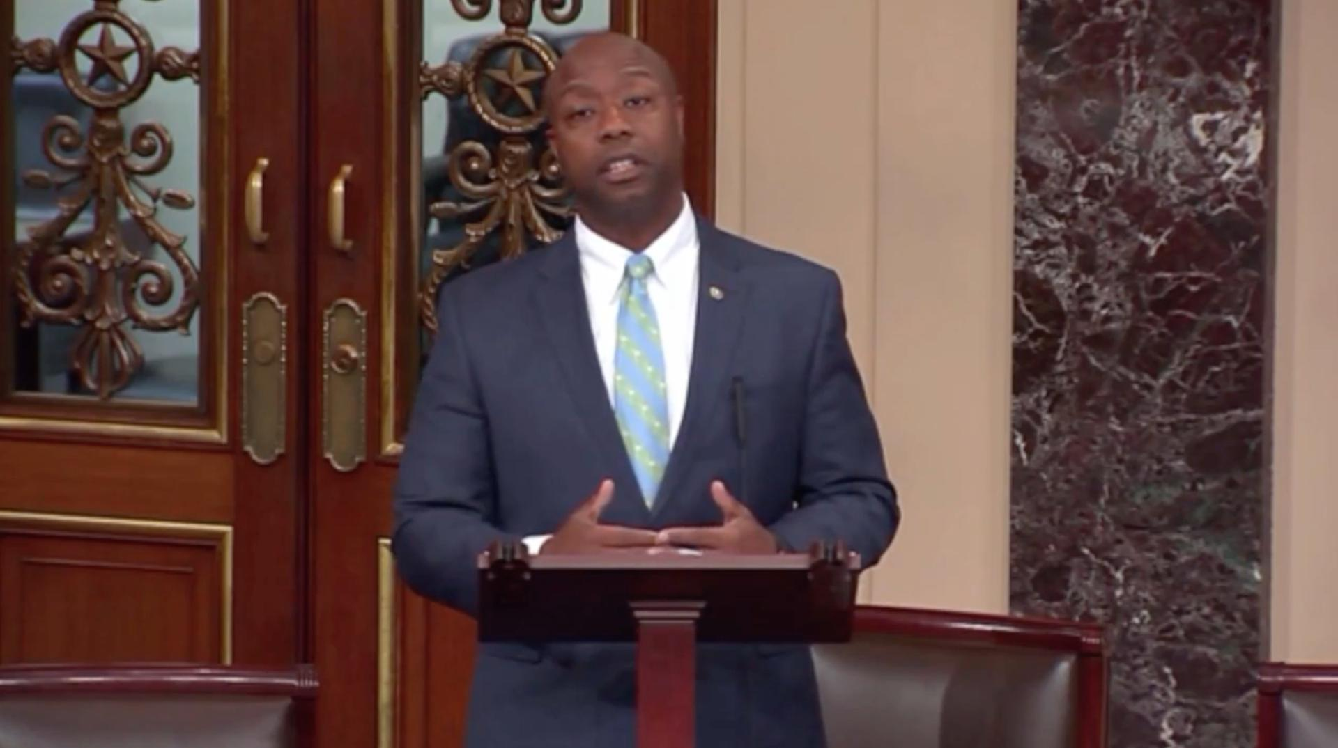 On the Senate floor, black GOP senator talks of disrespect from police