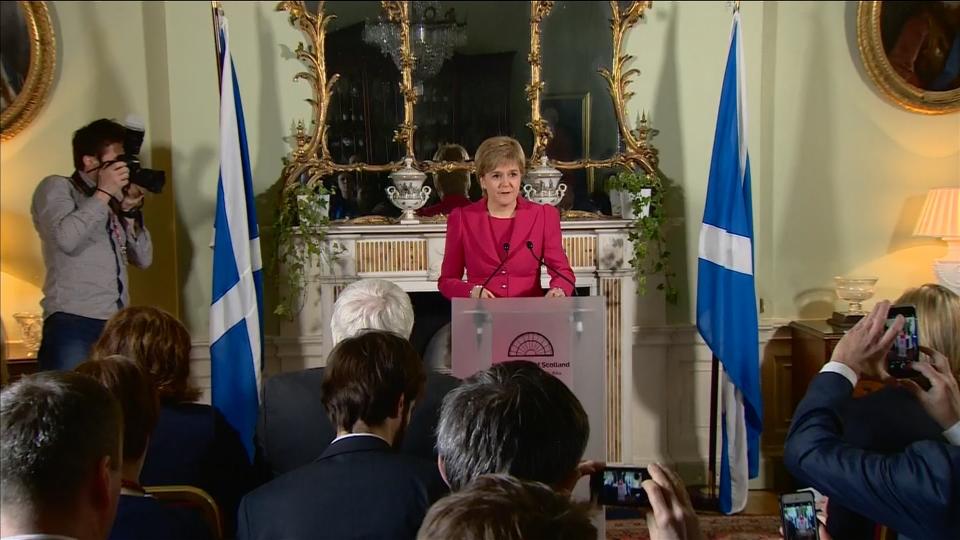 Scottish leader Nicola Sturgeon to seek second independence referendum